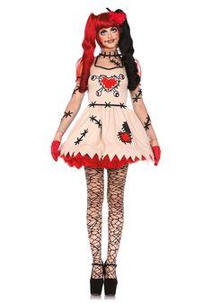 Leg Avenue 85434 - Voodoo Cutie Kostüm, Größe Medium (EUR 38): Amazon.de: Spielzeug