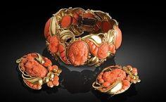 Coral Victorian jewellery
