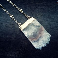Amethyst Slice Stalactite Necklace, Peach Amethyst Slice, Boho, Goddess,Layering,Peach and Gold,Peach and White,Dark Beauty,Crystal Necklace by OneTribeJewelry on Etsy