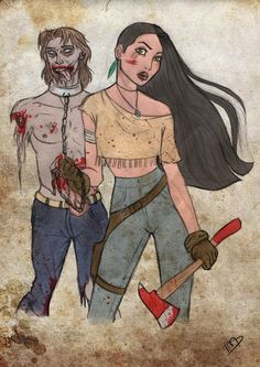 Personagens da Disney versão The Walking Dead