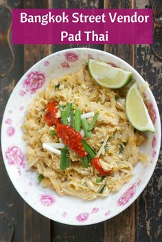 The best Pad Thai recipe is inspired by a Bangkok street vendor, whose authentic Pad Thai was so mind-blowingly delicious that I knew I had to make it at home. Thai Recipes, Wine Recipes, Asian Recipes, Cooking Recipes, Healthy Recipes, Asian Foods, Vietnamese Recipes, Healthy Breakfasts, Noodle Recipes