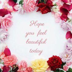 Hope you feel beautiful ♡ Tuesday Morning, How To Feel Beautiful, Hope You, How Are You Feeling, Feelings, Nice, Birthday, Good Day, Birthdays