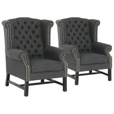 Sussex Tufted Club Chairs.