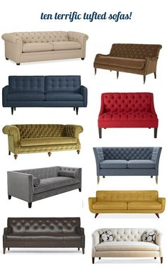 I fell in love with tufted sofas years ago when I saw them appear time and again in the classic movies I love from the golden age of Hollywood.   Button tufted sofas date back to the 19th century when the style became popular in the Victorian era.  Over the decades, the tufted sofa has been [...]