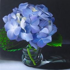 Hydrangea 6x6, painting by artist M Collier (Wow!!!!)