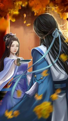 Fantasy Couples, Fantasy Girl, Chinese Drawings, Chinese Art, Anime Couples Manga, Cute Anime Couples, L5r, China Girl, Anime Love Couple