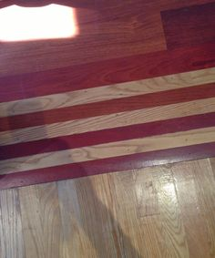 Have you ever seen a pretty transition between two distinctly different hardwood floors?