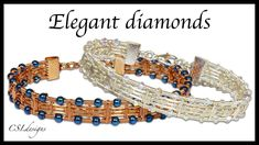 Elegant diamonds wirework bracelet
