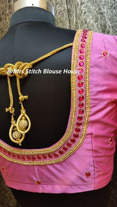 This video explained how to make a simple bridal blouse design in a professional way.