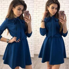 Summer Dress 2018 Women Fashion Bow Causal Party Dress Spring  Vintage Elegant Mini Dress Plus Size-in Dresses from Women's Clothing & Accessories on Aliexpress.com   Alibaba Group