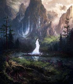 Нимродель  ArtStation - The Falls of Nimrodel, Julian Bauer