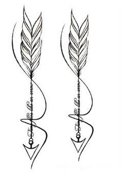 $1.99 - Waterproof Temporary Fake Tattoo Stickers Cool Grey Feather Arrow Design #ebay #Fashion