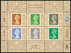 Diamond Jubilee Stamps....need to look for these in London in July!