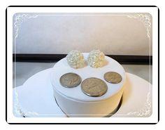 Vintage  Wedding White Bridal Button Earrings   E3309a-092412000