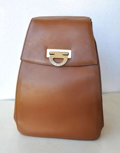 CELINE Paris Tan Leather Backpack Bag Unisex/Mens/Womens Made in Italy Authentic | eBay