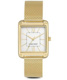 Nine West Larkinah Mesh Strap Watch | Use our guide to the top Christmas gifts in 2017 to find the best gift for everyone on your shopping list—you can buy them all online now.