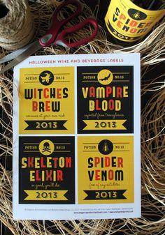 Free Printable: Halloween Wine Labels | Elegance & Enchantment