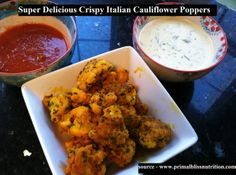 Super Delicious Crispy Italian Cauliflower Poppers...For more creative tips and ideas FOLLOW https://www.facebook.com/homeandlifetips