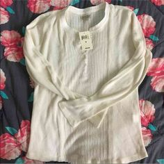 White knit. White knit new never worn. Lucky Brand Tops Tees - Long Sleeve