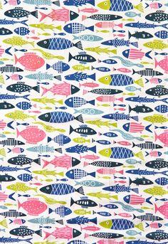 Klippan Retro Fish Tea Towel