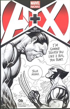 Wolverine vs. Hulk Sketch Cover - Frank Cho