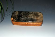 Handmade Wooden Pen Box in Natural Mahogany with by BurlWoodBox, $39.00