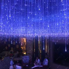 Fiber Optic Ceiling, Fiber Optic Lighting, Wonderland Events, Winter Wonderland, Star Lights On Ceiling, Novelty Lighting, Modern Chandelier, Light Art, Light Decorations