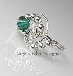 May Birthstone Ring Argentium Sterling by SerendipDesignsJewel