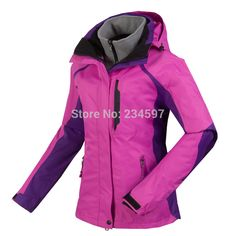 bf46631ce8 Factory Direct Sale 2014 Winter Women Outdoor Jackets Warm Waterproof  Windproof Breathe Hiking Camping Ski Jacket 2 pieces set