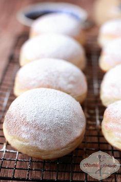 puszyste pączki pieczone przepis / baked donuts recipe - My WordPress Website Sauce Recipes, Gourmet Recipes, Sweet Recipes, Baking Recipes, French Recipes, Polish Desserts, Polish Recipes, Polish Food, Baked Donut Recipes