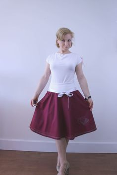 A personal favourite from my Etsy shop https://www.etsy.com/listing/496738414/half-circle-skirt-1950s-skirt-retro