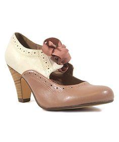 Another great find on #zulily! Pink & White Sylvia Pump #zulilyfinds