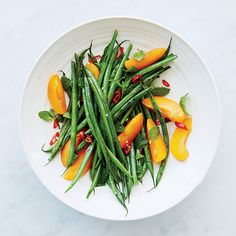 Charred Green Beans with Apricots | Food & Wine