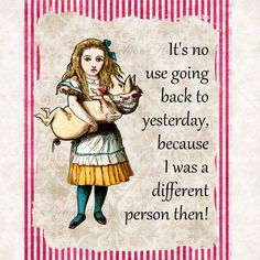 Art Print  8 x 10 Alice in Wonderland Quotes Alice With Pig