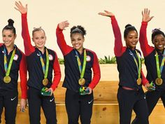 The U.S. women's gymnastics team (Aly Raisman, Madison