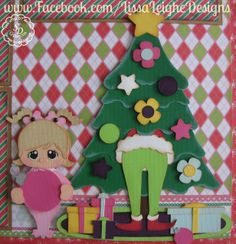 www.Facebook.com/LissaLeigheDesigns scrappydew.com Scrapbooking Christmas Layout Paper Piecings Paper Crafts Silhouette Cameo