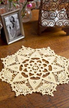 Starshine Doily Crochet Pattern | Red Heart http://www.redheart.com/free-patterns/starshine-doily