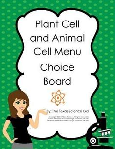 Freebie! The way this is used, instead of food there are a variety of assignments that students can complete to show their mastery of their understanding of Plant Cells and Animal Cells. Some of the assignments include describing living things, describing the differences between cells, drawing and labeling cells, and creating flash cards.