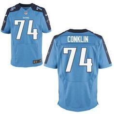 Tennessee Titans #74 Jack Conklin Nike Light Blue Elite 2016 Draft Pick Jersey