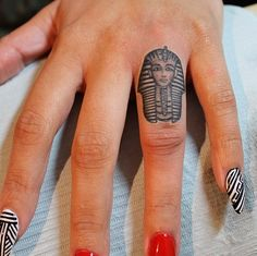 "Explore creative board ""Egyptian Tattoos"" on creativetatto. See more ideas about Egyptian tattoo, Tattoos and Egypt tattoo. Finger Tattoo Designs, Tattoo Am Finger, Cute Finger Tattoos, Finger Tattoo For Women, Hand Tattoo, Tattoo Designs For Girls, Tattoo Designs Men, Tattoos For Women, Tattoos For Guys"