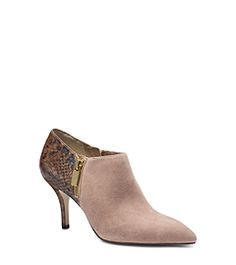 Clara Python Embossed-Leather Ankle Boot