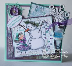 E Creations: Kraftin Kimmie Stamps Preview Day Four and a Challenge - Frosty Friends