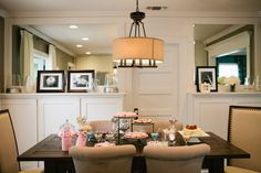 Nina's dining room came together beautifully! We love the elegant style. #DreamBuilders