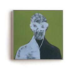 NUMERO22 - Anonymous Project, Oil on Canvas 50x50 cm Piergiorgio Del Ben//Peter Of Good, Visual Artist, Painter.