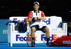 Kei Nishikori Photos: Barclays ATP World Tour Finals - Day Seven