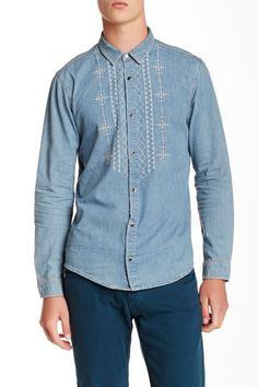 Sandro   Long Sleeve Hippie Shirt   HauteLook