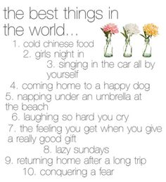 love all of these