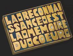 LINE VAUTRIN (1913-1997) | ETUI A CIGARETTES 'LA RECONNAISSANCE EST LA MEMOIRE DU COEUR', VERS 1945 | 1940s, All other categories of objects | Christie's