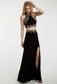 Two Piece Multicolor Bead Dress