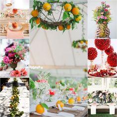 Des fruits des pour votre décoration de mariage  #B4wedding #wedding #mariage #décoration #fruit #insolite